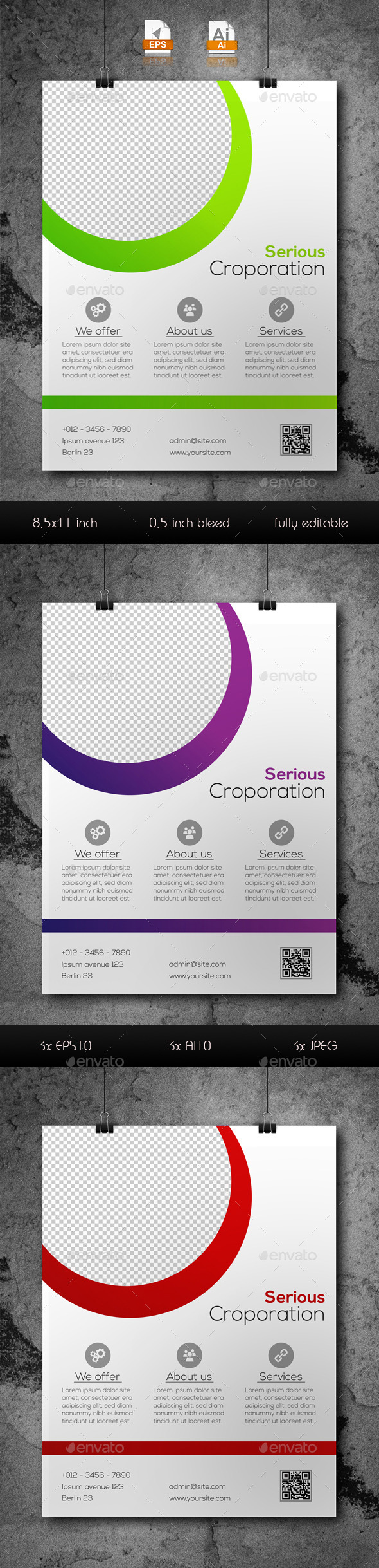 GraphicRiver Multi-Purpose Business Flyer Template 9658203