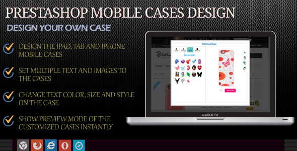 Mobile Case Designer Module for Prestashop