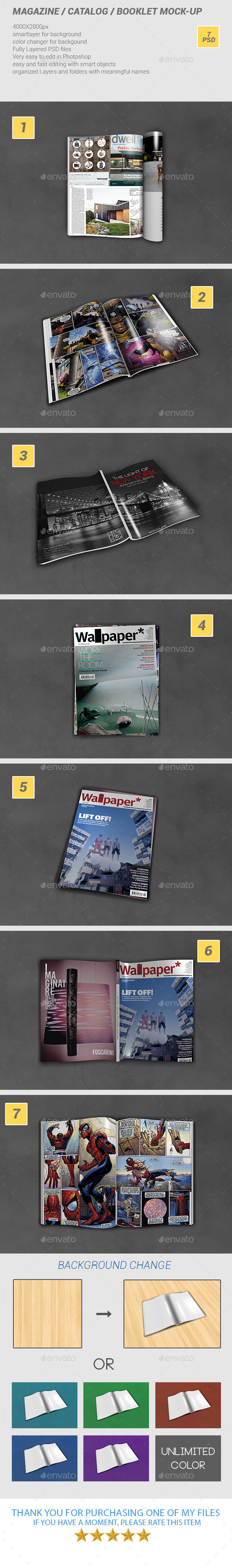 GraphicRiver A4 Magazine Catalog Booklet Mock-Up 9658254