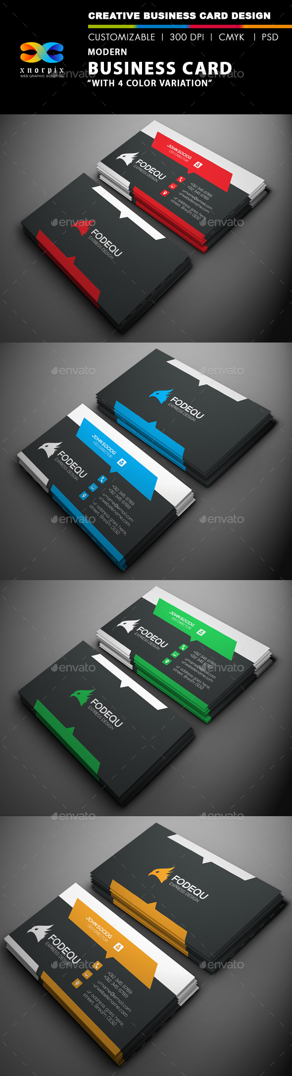 GraphicRiver Modern Business Card 9658255