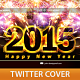 Happy New Year Twitter Profile Cover - GraphicRiver Item for Sale