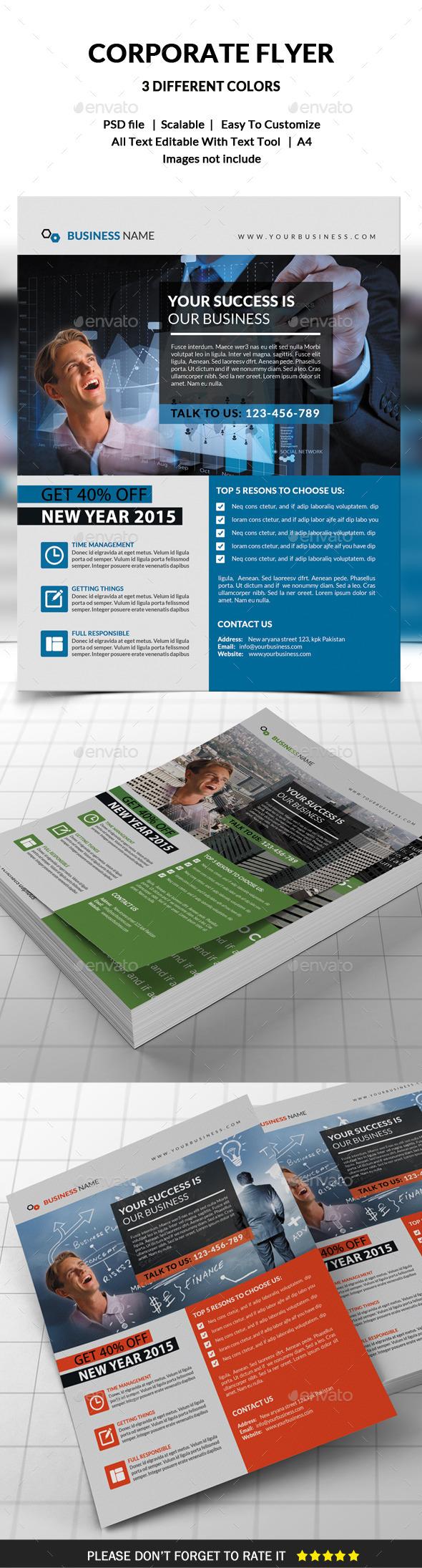 GraphicRiver Corporate Flyer 9658337