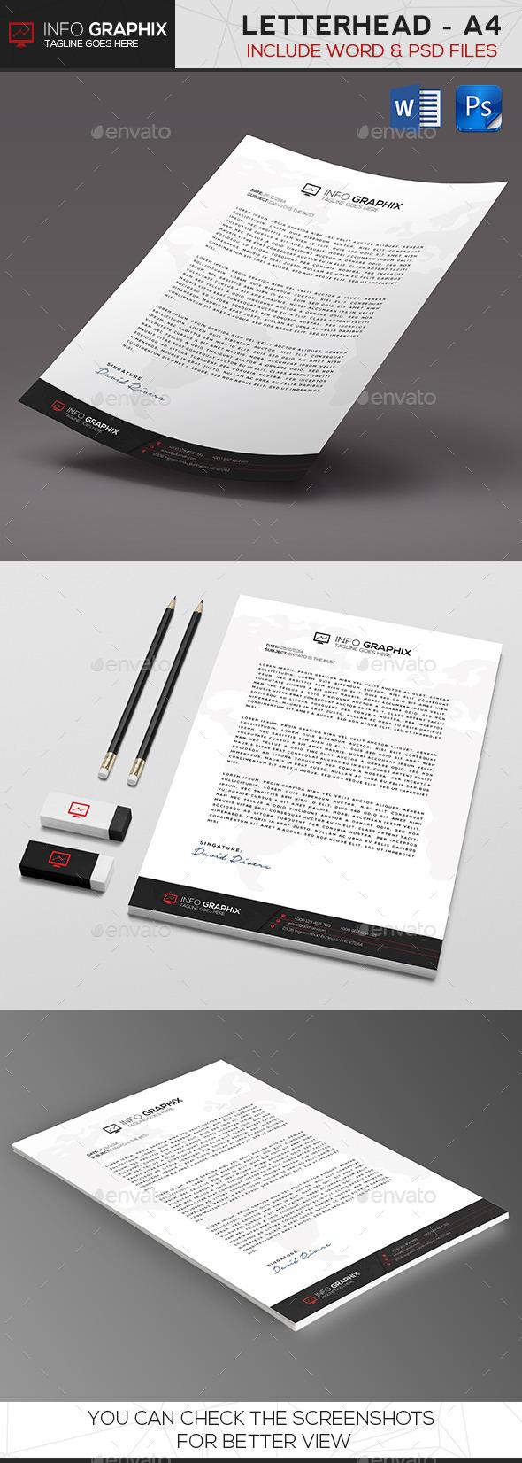 GraphicRiver InfoGraphix Letterhead 9658391