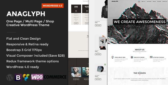 ANAGLYPH - One page / Multi Page WordPress Theme - Creative WordPress