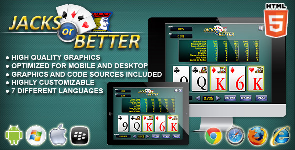 CodeCanyon Jacks or Better HTML5 Casino Game 9658448