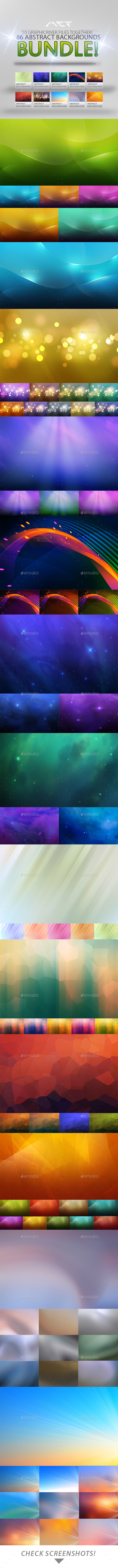 GraphicRiver 86 Abstract Backgrounds Bundle 9619105