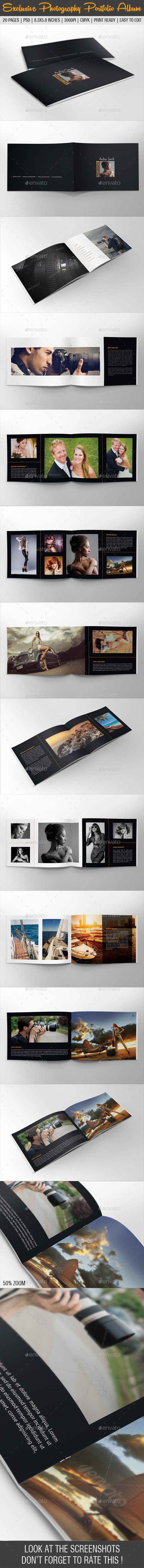 GraphicRiver Exclusive Photography Portfolio Album 07 9658725