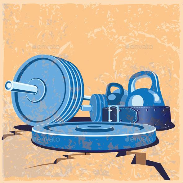 GraphicRiver Old School Gym Set 9646731