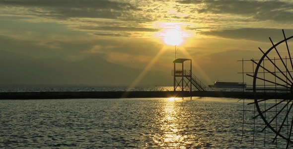 VideoHive Sunset and Ferryboat 9660753