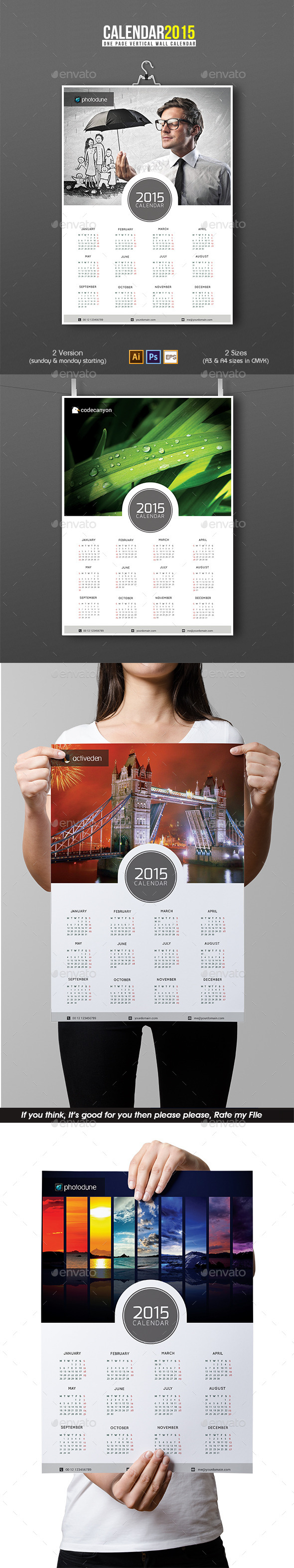 GraphicRiver Wall Calendar 9660803