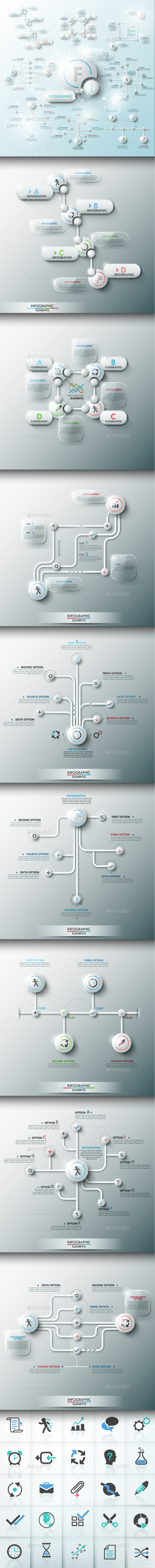 GraphicRiver Future Infographic Templates Set 9660804