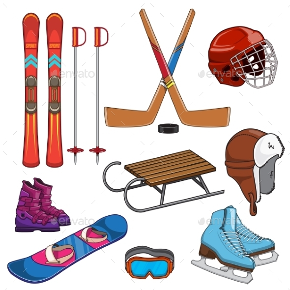 GraphicRiver Winter Sports Collection 9660808
