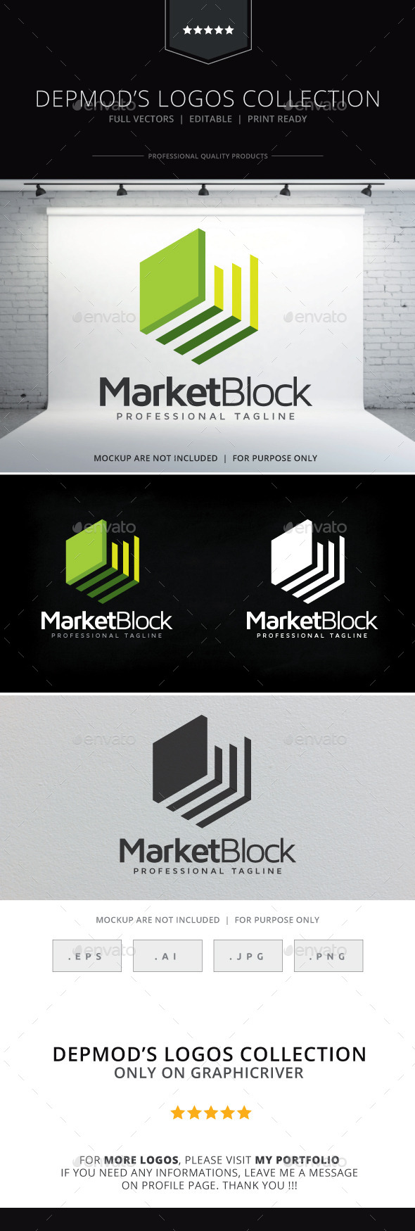 GraphicRiver Market Block Logo 9660905