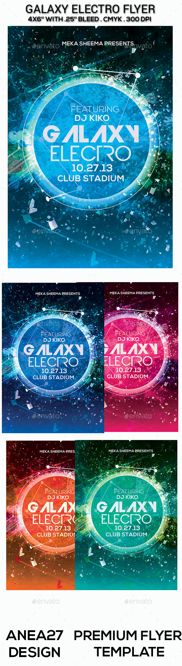 GraphicRiver Galaxy Electro Flyer 9660906