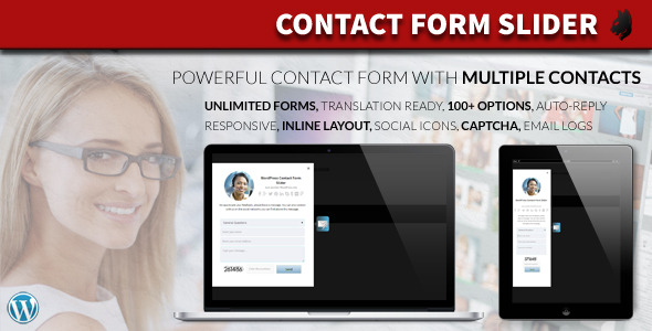 Animated Contact Form with multiple contacts and unlimited contact forms. Contact Form Slider ensures a professional system to get in touch with your customers