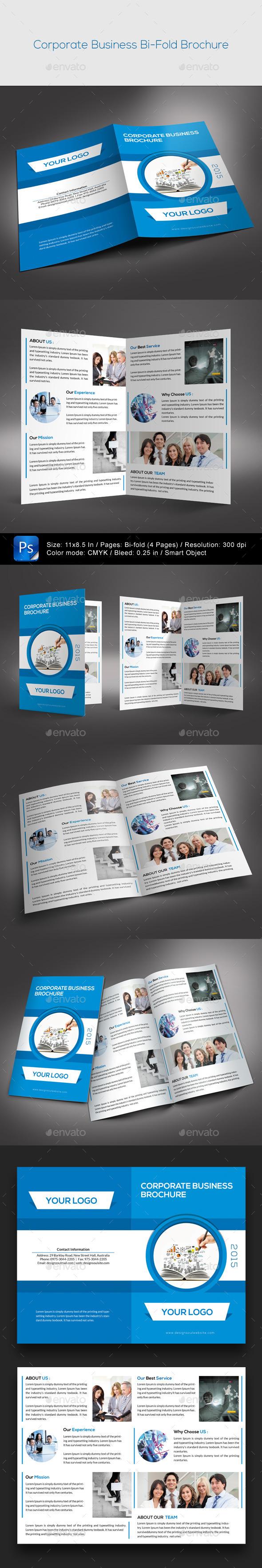GraphicRiver Corporate Bifold Brochure 9661076