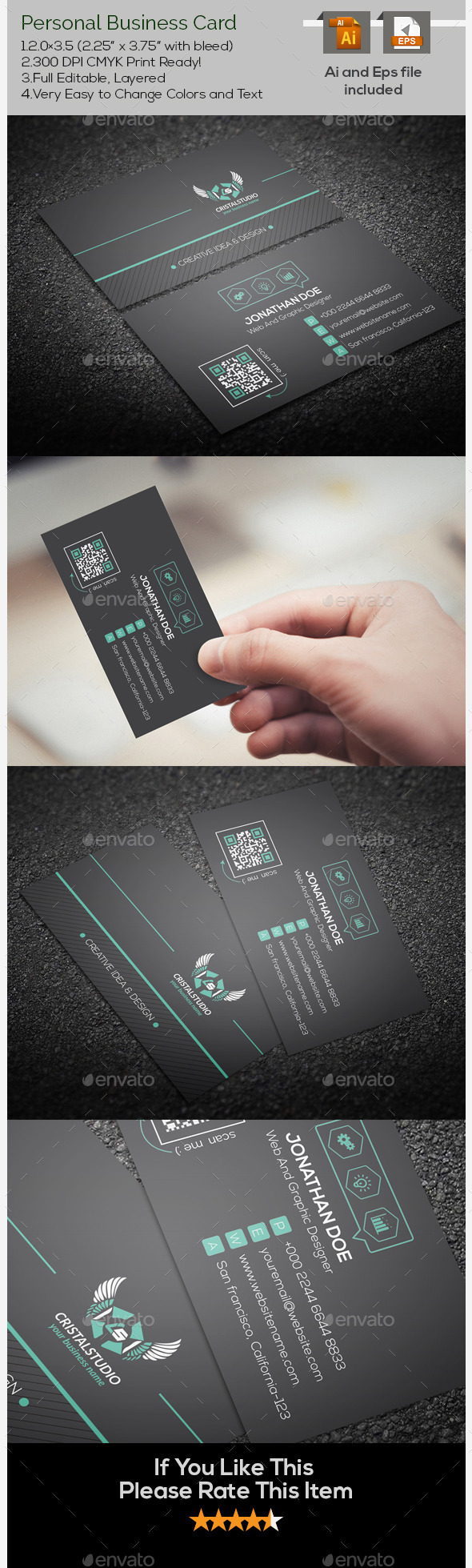 GraphicRiver Creative Personal Business Card 9661082