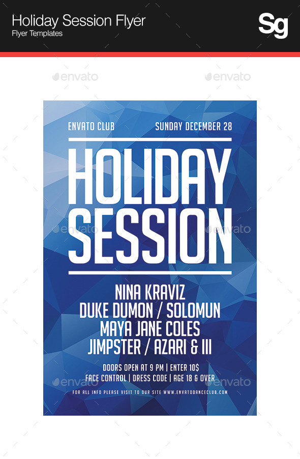 GraphicRiver Holiday Session Flyer 9661529
