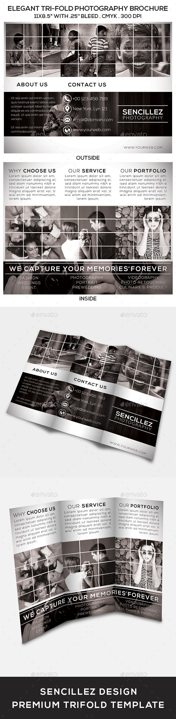 GraphicRiver Elegant Tri-Fold Photography Brochure 9661555