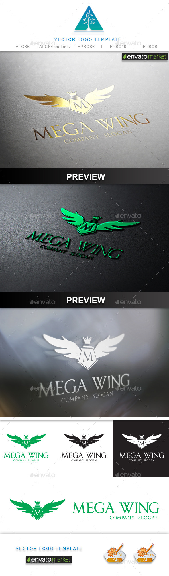 GraphicRiver Mega Wing Logo 9661575