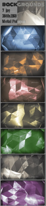 GraphicRiver 3D Metal Polygon 9661726