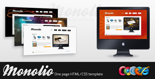 Monolio - One Page Portfolio (4 Skins)
