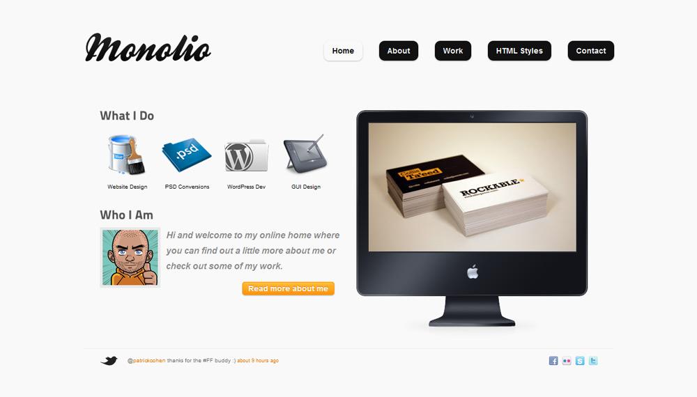 Monolio - One Page Portfolio (4 Skins) - Home Style 4
