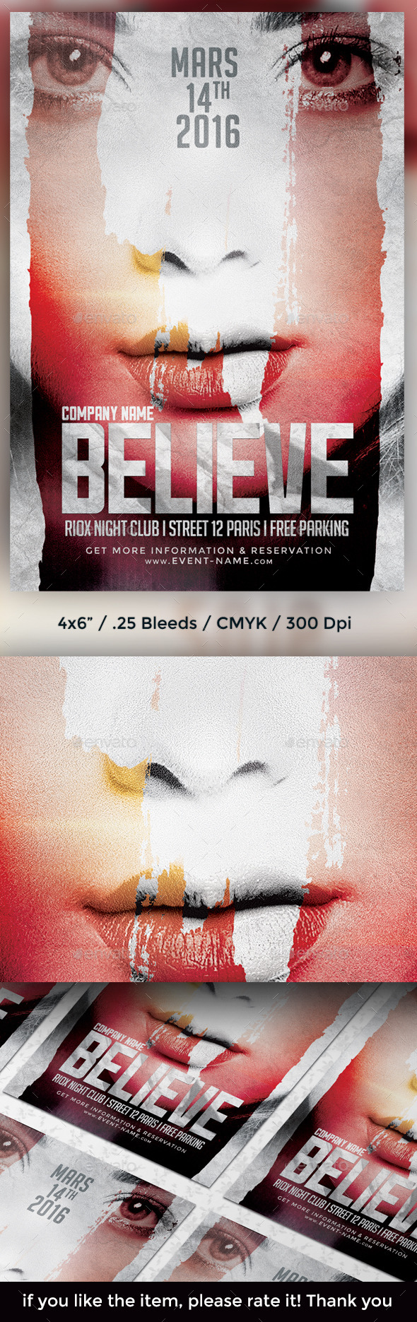 GraphicRiver Believe Flyer Template 9661763