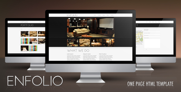 Enfolio – premium one page HTML template -