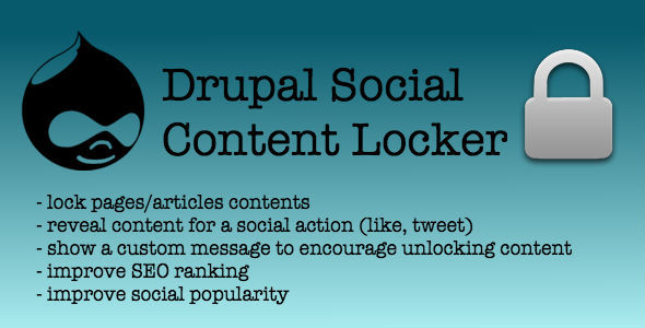 CodeCanyon Social Content Locker for Drupal 9661878