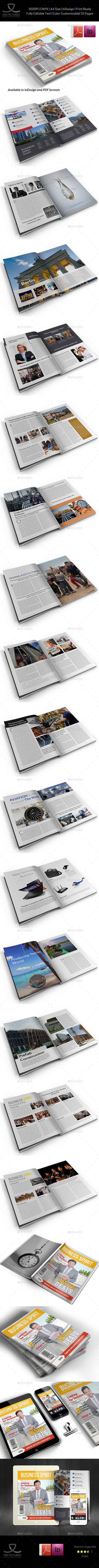 GraphicRiver Business Spirit Newsletter Magazine 32 Pages V.2 9661881