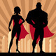 Superhero Couple 4 - GraphicRiver Item for Sale