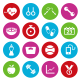 Fitness Vector Flat Icons - GraphicRiver Item for Sale