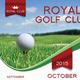 Golf Club Calendar Template - GraphicRiver Item for Sale