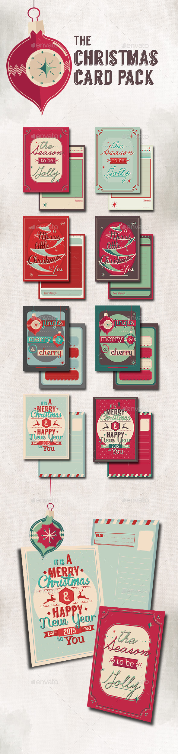 GraphicRiver Christmas Card Pack 9636856