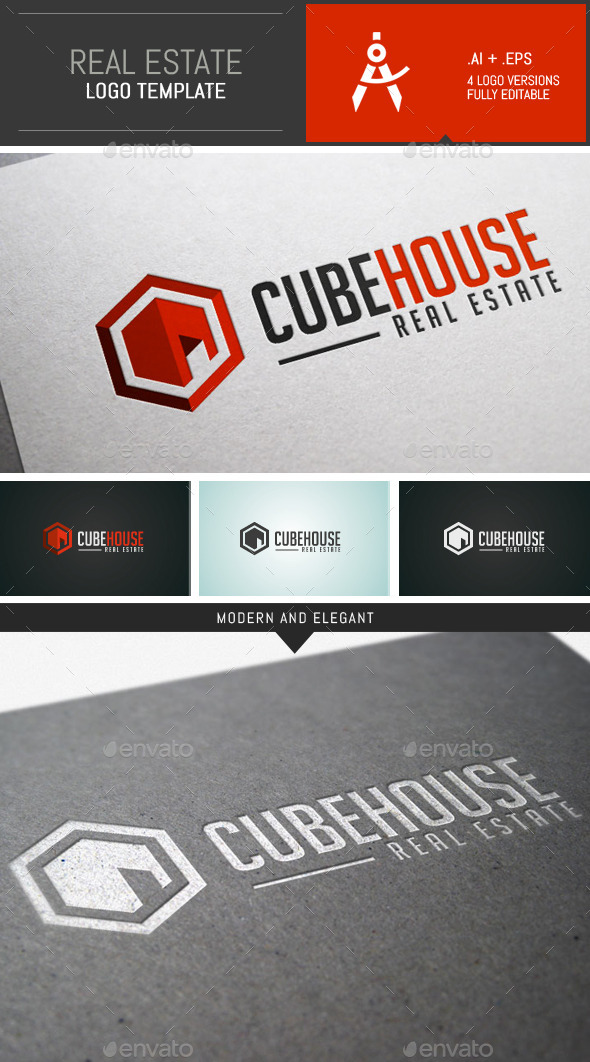 GraphicRiver Modern Real Estate Logo Template 9662712