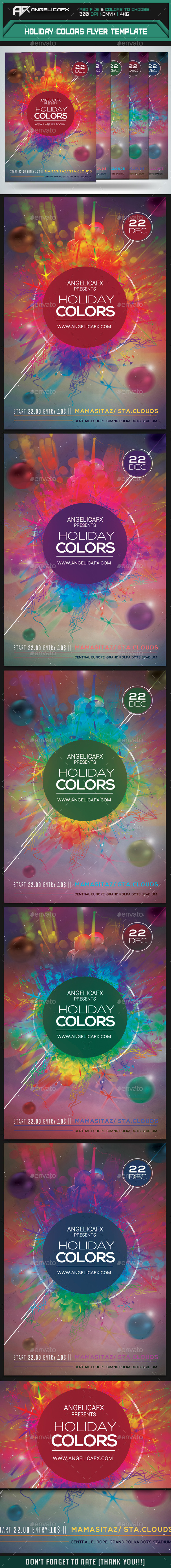 GraphicRiver Holiday Colors Flyer Template 9662728