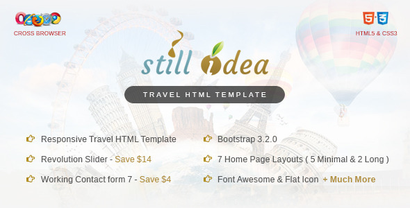 ThemeForest Stillidea Travel Clean HTML Template 9619494