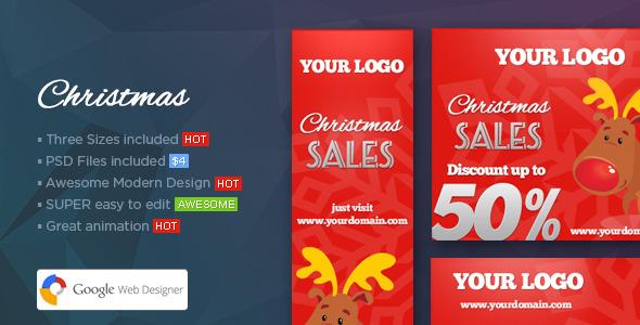 CodeCanyon Christmas Banners Web Banner Template 9662811