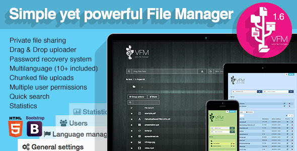 Veno File Manager host and share files