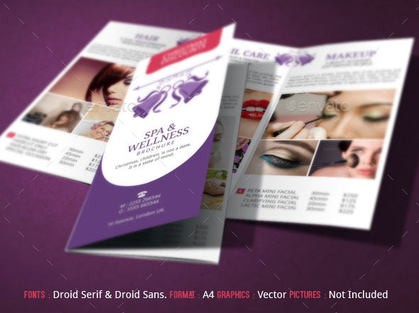 Spa Brochure Template Christmas Deals by BloganKids – Spa Brochure Template