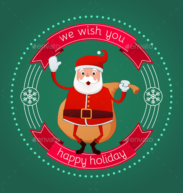 GraphicRiver Happy Holiday From Santa 9662970