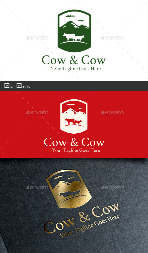 GraphicRiver Cow and Cow 9604085
