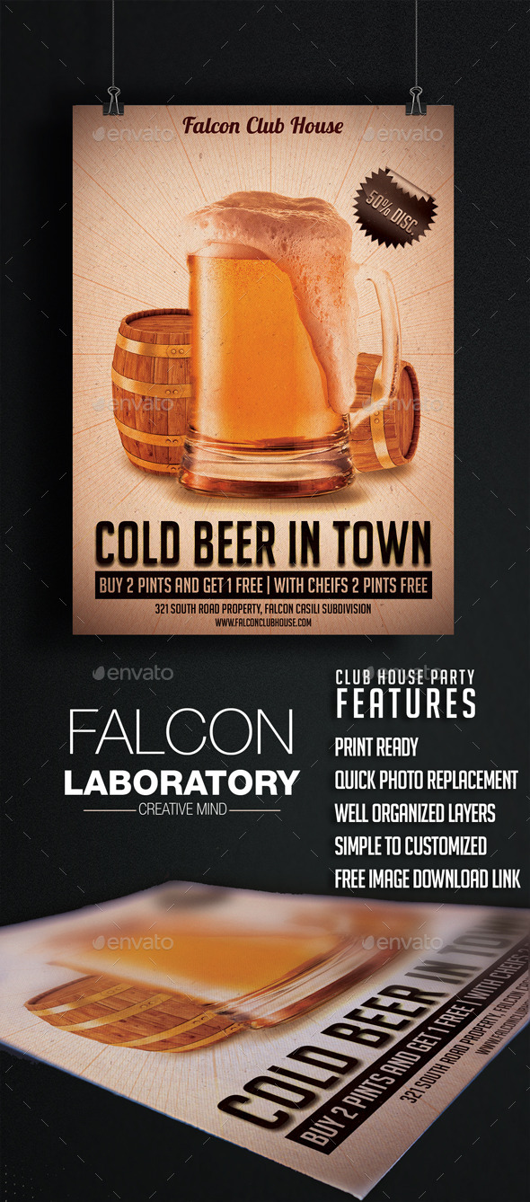 GraphicRiver Cold Beer Flyer 9663105