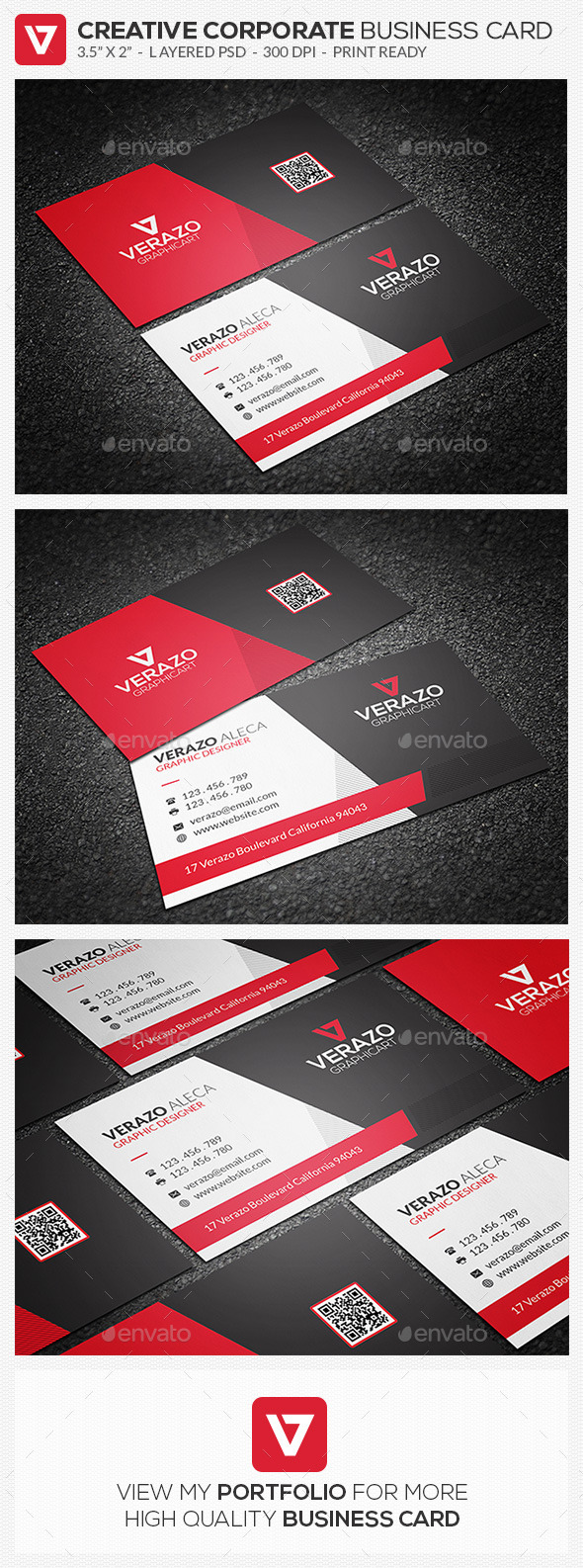 GraphicRiver Creative & Sleek Corporate Business Card 67 9663373