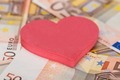 Heart Shape On Euro Banknotes - PhotoDune Item for Sale