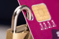 Padlock Attached To Credit Card - PhotoDune Item for Sale