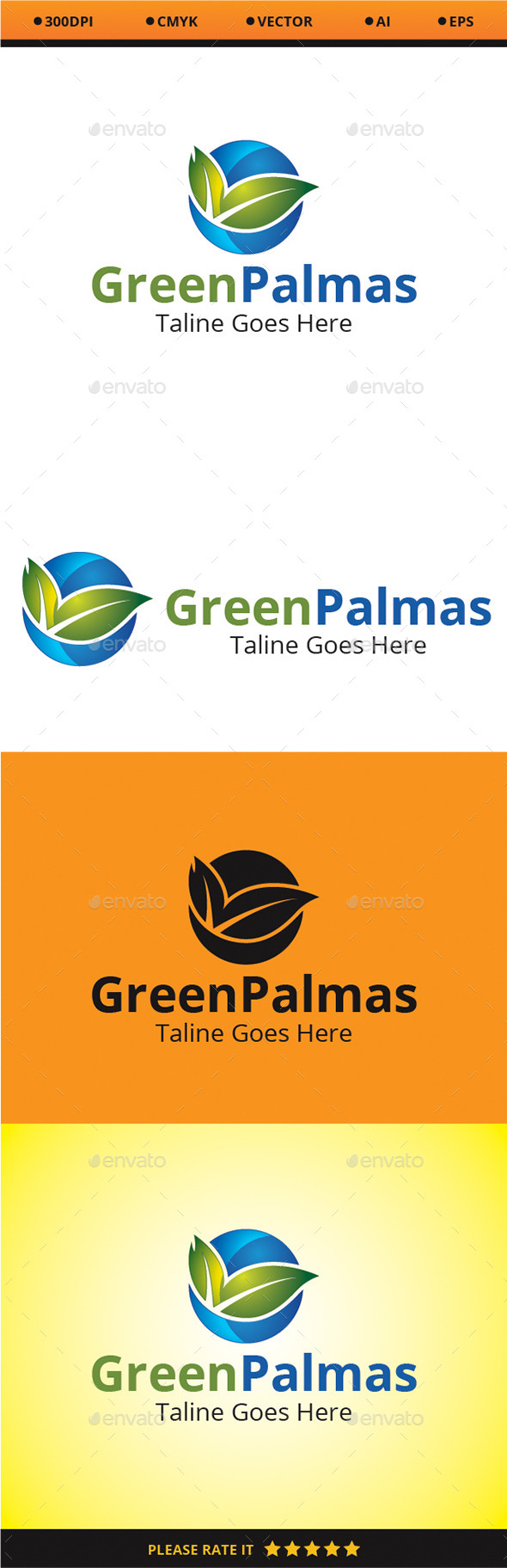 GraphicRiver Green Palmas 9663588