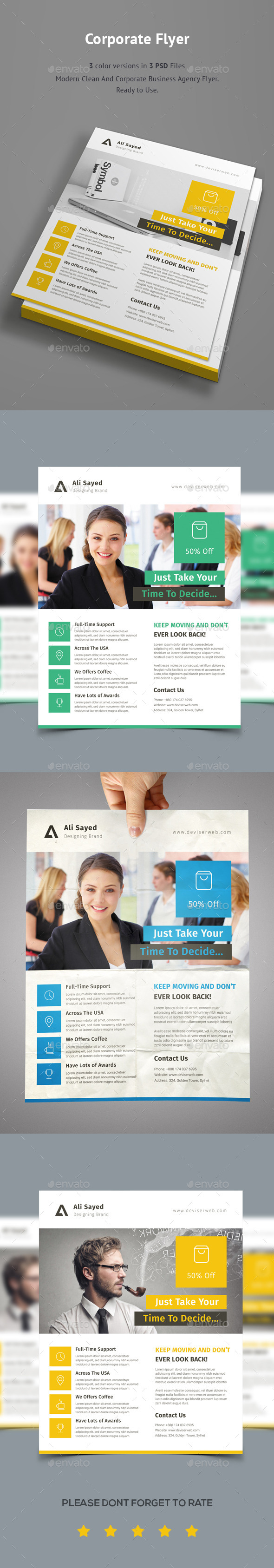 GraphicRiver Corporate Business Agency Flyer 9663688