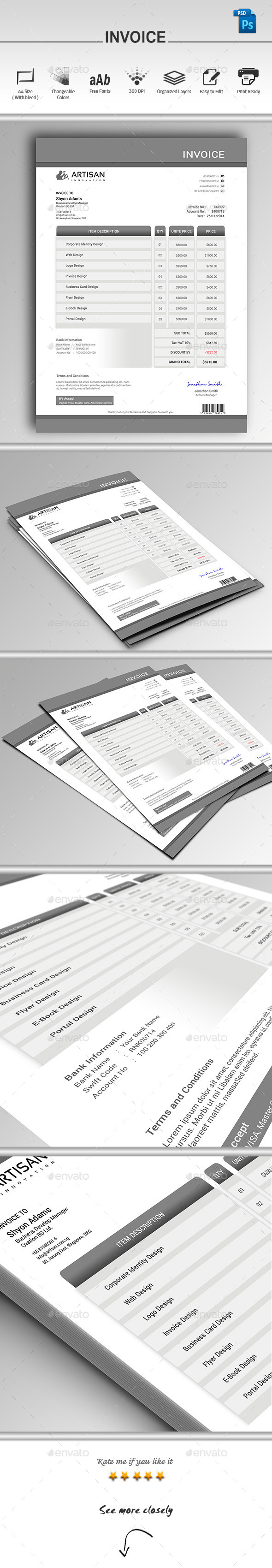 GraphicRiver Invoice 9663707